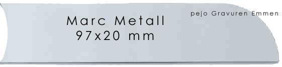 Marc Metall Schild