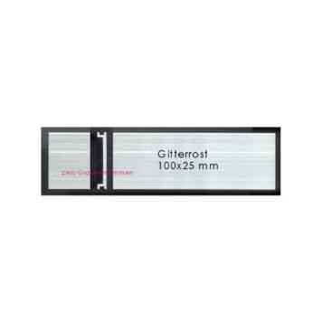 Briefkastenschild Gitterrost 100x25