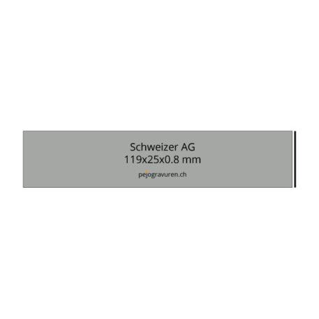 Schweizer Briefkasten 119x25 mmtausendfach bewährt